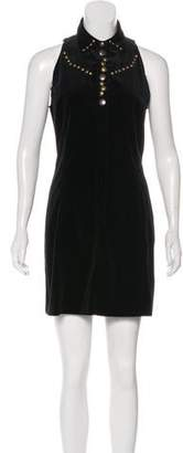 Tomas Maier Velvet Mini Dress