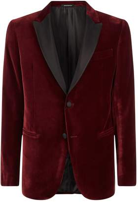 Emporio Armani Velvet Satin Lapel Jacket