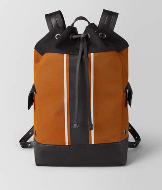 Bottega Veneta ORANGE/NERO CANVAS BACKPACK