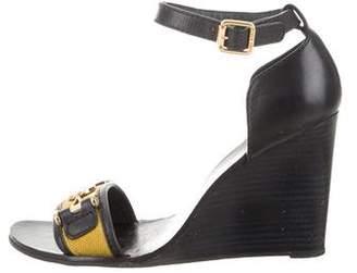Tory Burch Round-Toe Wedge Sandals