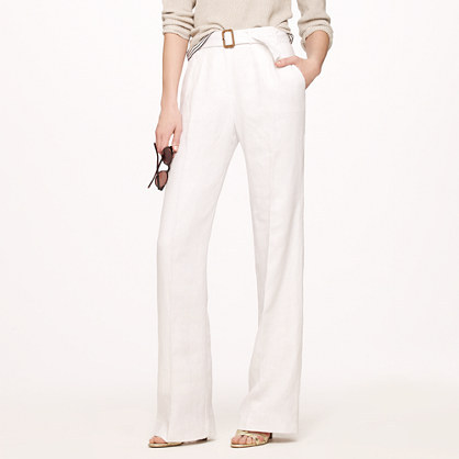 J.Crew Hutton trench trouser in linen