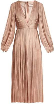 Maria Lucia Hohan Enora V-neck pleated tulle midi dress