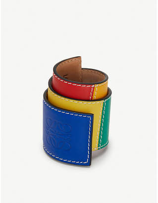 Loewe Big Patchwork Slap leather bracelet