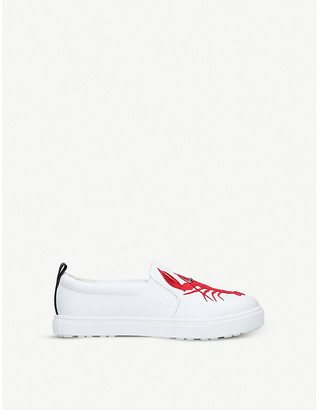 Kurt Geiger London Claude lobster-embroidered slip-on trainers 1-10 years