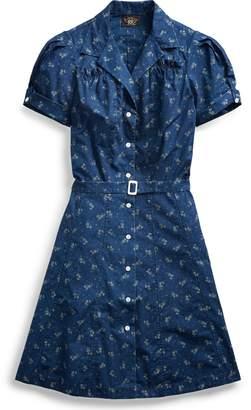 Ralph Lauren Floral Indigo Cotton Dress