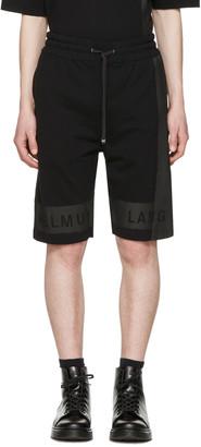 Helmut Lang Black Printed Track Shorts $255 thestylecure.com