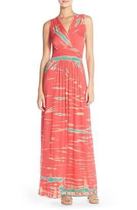Fraiche by J Tie Dye Ombre Jersey Maxi Dress