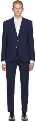BOSS Navy Check Nalton Pirko Slim Suit