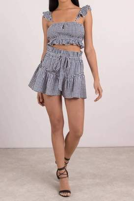 Blue Life Cherie Gingham Top