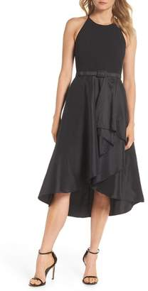 Eliza J Asymmetrical Tea Length Dress
