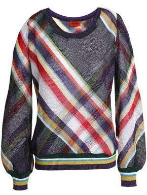 Missoni Checked Metallic Crochet-Knit Sweater