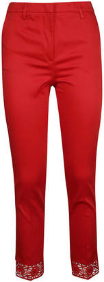 Blumarine Skinny Fit Laced Trousers