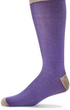 Saks Fifth Avenue COLLECTION Contrasting Heel Mid-Calf Socks