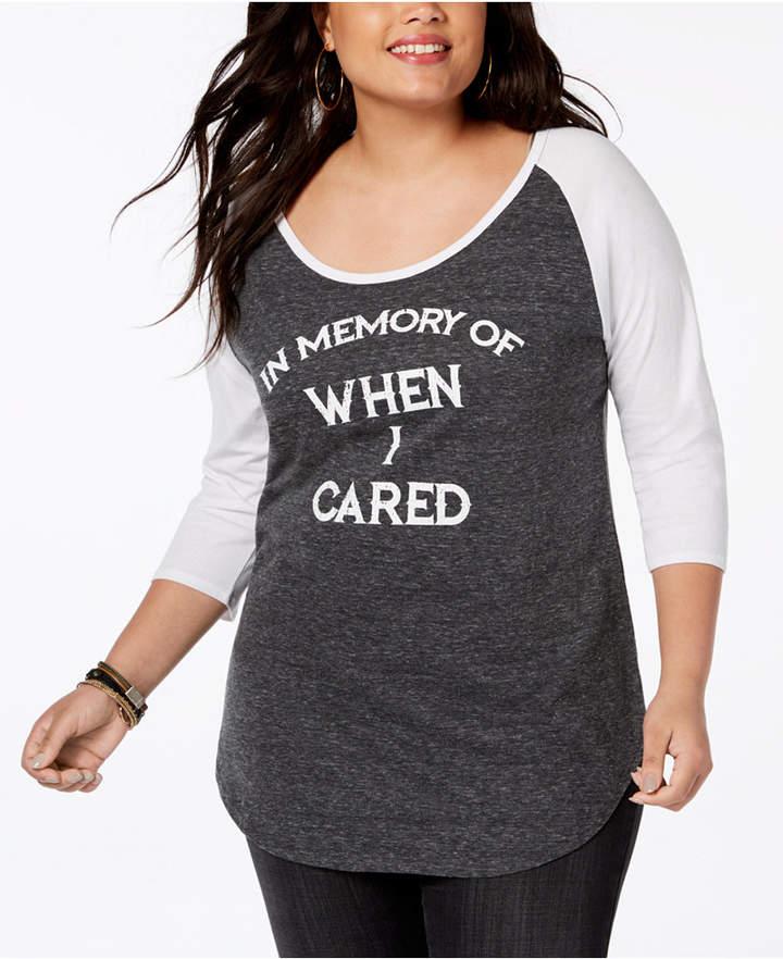 Plus Size Colorblocked Graphic T-Shirt