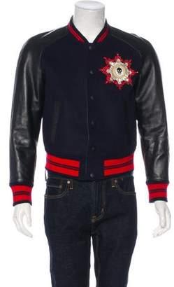 Alexander McQueen 2016 Leather-Trimmed Embellished Jacket