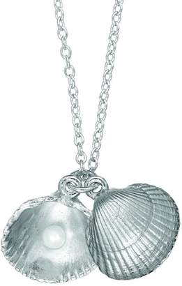 Chupi - There Is Magic Within Seashell Locket Maxi Necklace In Silver