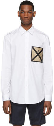 Burberry White Pocket Detail Shirt