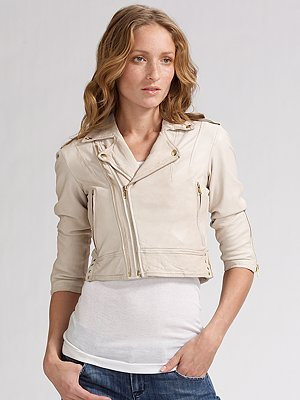 Joie Dolores Leather Motorcycle Jacket