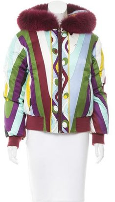Emilio Pucci Fur-Trimmed Puffer Jacket $530 thestylecure.com
