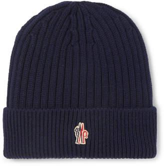 Moncler Ribbed Virgin Wool Beanie