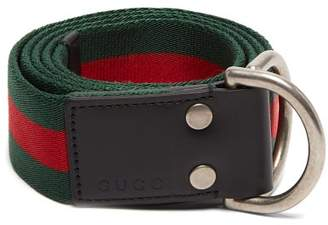 487fe0d0eee Gucci Web Striped Canvas Belt - Mens - Green Multi