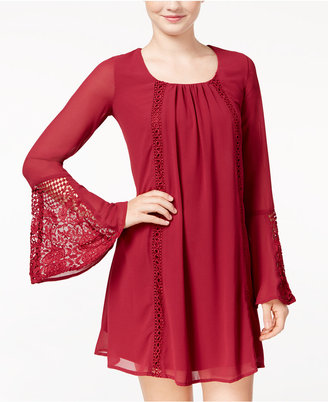 Sequin Hearts Juniors' Bell-Sleeve Shift Dress $59 thestylecure.com