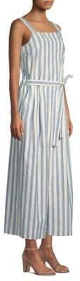 Lafayette 148 New York Colette Cotton Stripe Jumpsuit