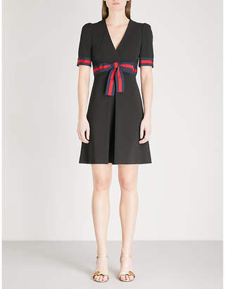 Gucci Bow-embellished woven dress