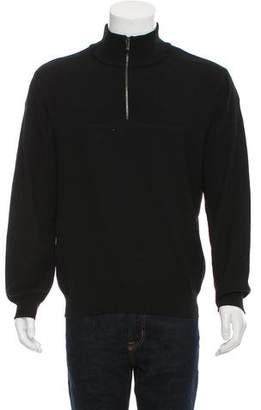 Zegna Sport Half-Zip Rib Knit Sweater