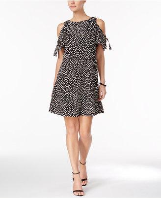 Jessica Howard Printed Cold-Shoulder Dress $79 thestylecure.com