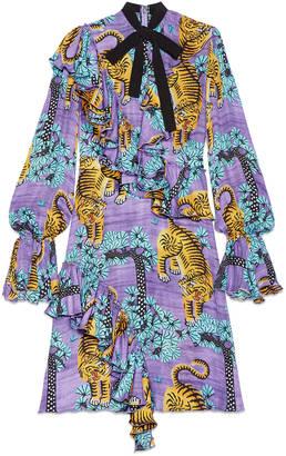 Gucci Bengal georgette dress $4,300 thestylecure.com
