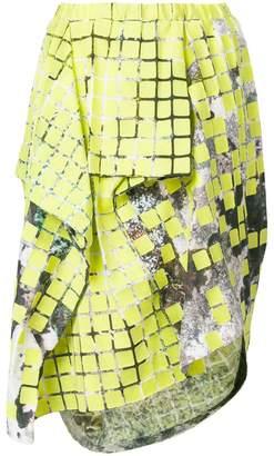 Issey Miyake printed asymmetric skirt