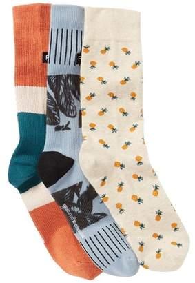 Richer Poorer Easy Breezy Crew Socks - Pack of 3