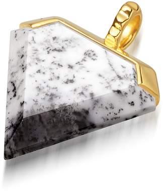 Missoma Dendritic Chalcedony Shield 18kt Gold Vermeil Charm