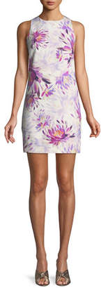Trina Turk Clemente Water Lily Twist-Back Dress