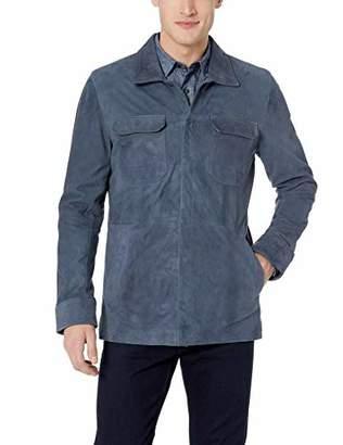 Robert Graham Men's REAVEY Suede Shirt Jacket