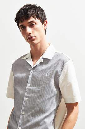 Fred Perry Stripe Panel Short Sleeve Button-Down Shirt