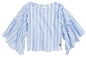 Bebe Yarn Dyed Stripe Blouse