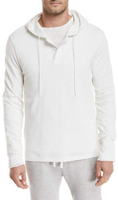 Vince Hooded Pima Cotton Henley Top