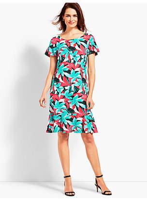 Talbots Botanical Jersey Shift Dress