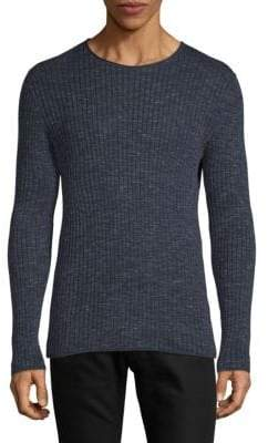 John Varvatos Ribbed Long-Sleeve Sweater