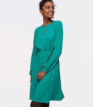 LOFT Petite Keyhole Dress