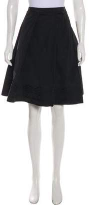 Armani Collezioni Pleated Knee-Length Skirt