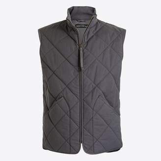 J.Crew Factory Waxed quilted Walker vest.