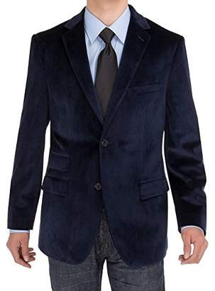 Exte SE SALVATORE Men's 2 Button Velvet Blazer