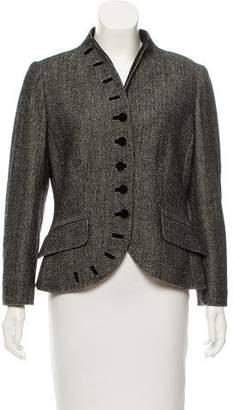 Rena Lange Wool Herringbone Jacket
