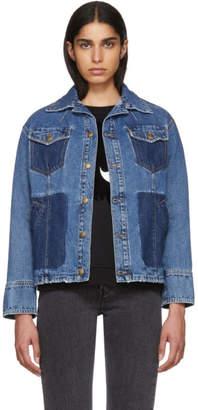 McQ Indigo Denim Boxy Jacket