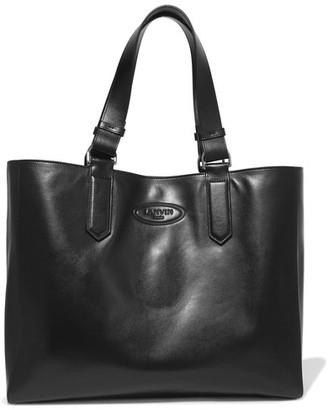 Lanvin - New Shopper Small Leather Tote - Black $1,095 thestylecure.com