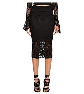 Bec & Bridge Marvel Lace Midi Skirt