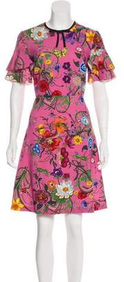 Gucci 2017 Flora Print Dress